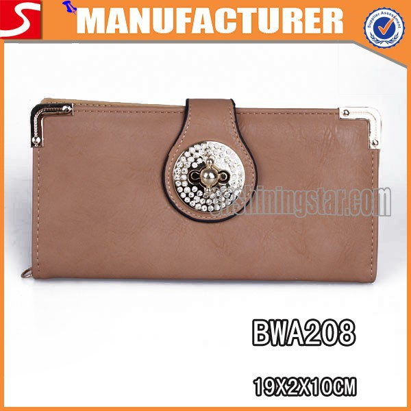 Latest trendy new design PU leather purses and handbags brand name