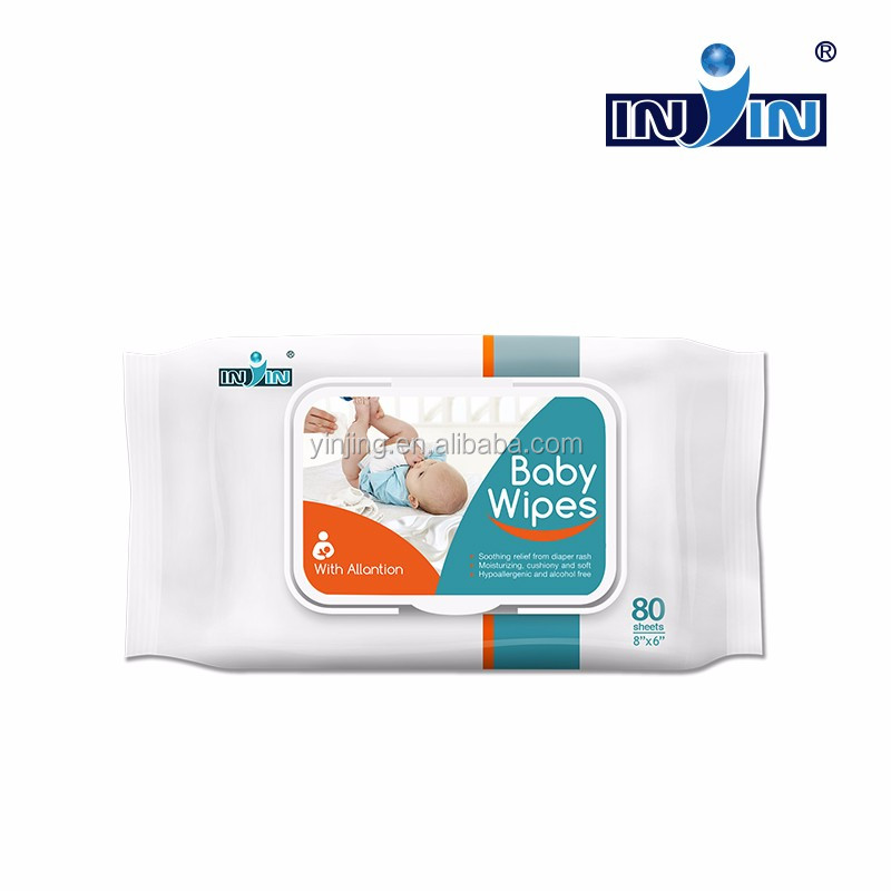 non-alcoholic wet wipe baby wipes for hand and mouth antibacterial