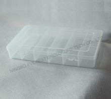 6 Slots Clear Plastic DIY Divider Container box Electronic Components Storage box