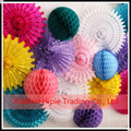 Assorted color ans size Tissue Paper Fans Honeycomb Ball Wedding Party Decor