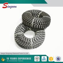 Original Rubber Pre-sharpened Diamond Wire Saw For Granite Block Cutting ,Rubber Wire Cutting Tools