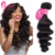 Free Shipping 3 Hair Bundles Raw Unprocessed Wavy Malaysian Weave Loose Wave Virgin Human  Hair Extensions Grade 9A Loose Curl