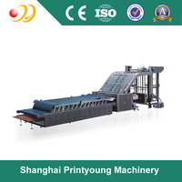 ZBZ-1300E/1450E multi function packing case flute laminating machine/paper mounting machine