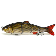 "4"" Multi Jointed Fishing Lure Life-like Minnow Hard Lure"