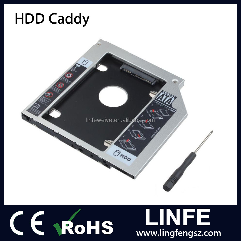 "Hot Sale 2.5"" SATA HDD External Caddy for Laptop DVD-ROM Universal HDD Caddy 12.7mm SATA"