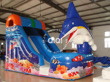 Dolphin commercial grade inflatable water slides for sale