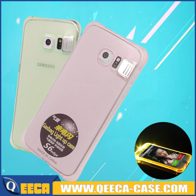 ~NEW~ LED flash case for samsung galaxy s6, incoming call light up phone case for samsung s6/ s6 edge