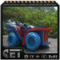 vehicle sculpture fiberglass car statue war chariot statue for sale