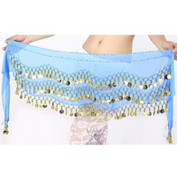 Fancy 3 Rows Coin Layer Hip Belt Of Belly Dance Hip Scarf