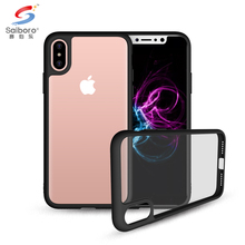 China manufacturer hybrid protective clear bumper case for apple iphone x,slim back cover for iphone x