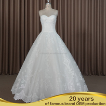 TW16047 Stunning sweetheart strapless draped organza sweep train wedding night dresses