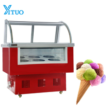 Commercial High quality gelato/hard ice cream display showcase