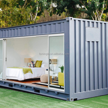 Prefabricated modular mobile container hotel for vacation with bathroom toliet