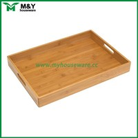 cheap OEM rectangular decorative unfinished wooden serving tray