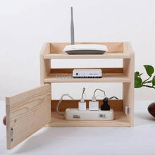 wooden router organizer electric wires storage organizer container box