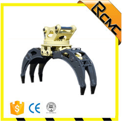 hydraulic excavator rotating grapple grab for waste metal
