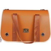 Lastest designed travel PU leather Pet dog bag