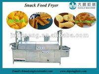 puffed corn snacks frying machine,corn snacks frying machine/snacks crackers frying machine