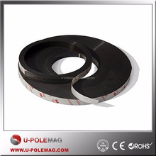 "1/2 x 1/16"" x 7' High Energy Flexible Rubber Magnetic Strip/Tape With 3M Self Adhesive"