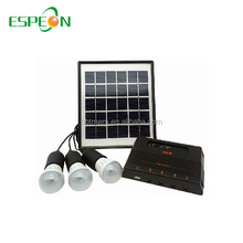 Portable Solar Outdoor Light Kit with 3AH Battery 4W/6V Panel