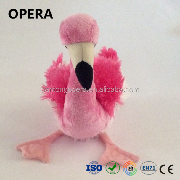 fashion givaway high quality flying bird stuffed plush pink flamingo