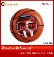Party Decoration LED Clock With Basketball Shape