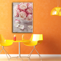Classic-maxim custom flower designs fabric painting with glass coating