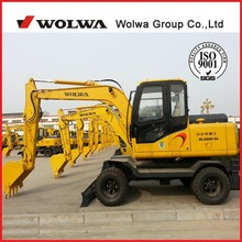 Small excavator 8 ton wheel hydraulic excavator DLS880-9A with low price