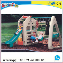 Children play house swing and slide playhouse