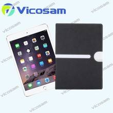 2014 Book style genuine leather wallet case for ipad mini 3 stand smart cover