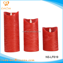 flameless moving wick led candle wholesale red paraffin wax artificial candles