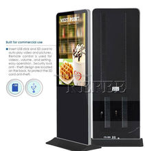 Newest free standing advertising display touch screen self-service terminal kiosk