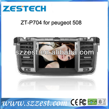 ZESTECH touch screen car dvd radio for peugeot 508 GPS Navigation + Radio FM/AM RDS option