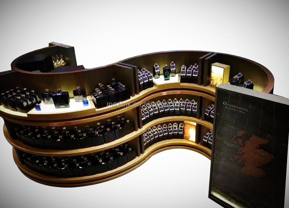 Floor standing luxury display rack /stand/shelf for wine/champagne retail used in supermarket and exclusive store