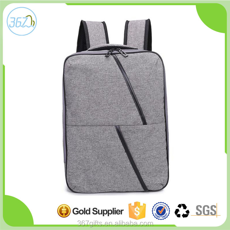 Wholesale Custom 15-15.6 Inch Lightweight Waterproof Fabric Canvas Laptop Backpack Bag