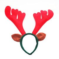 Masquerade Party Props Red Deer Antlers Hair band