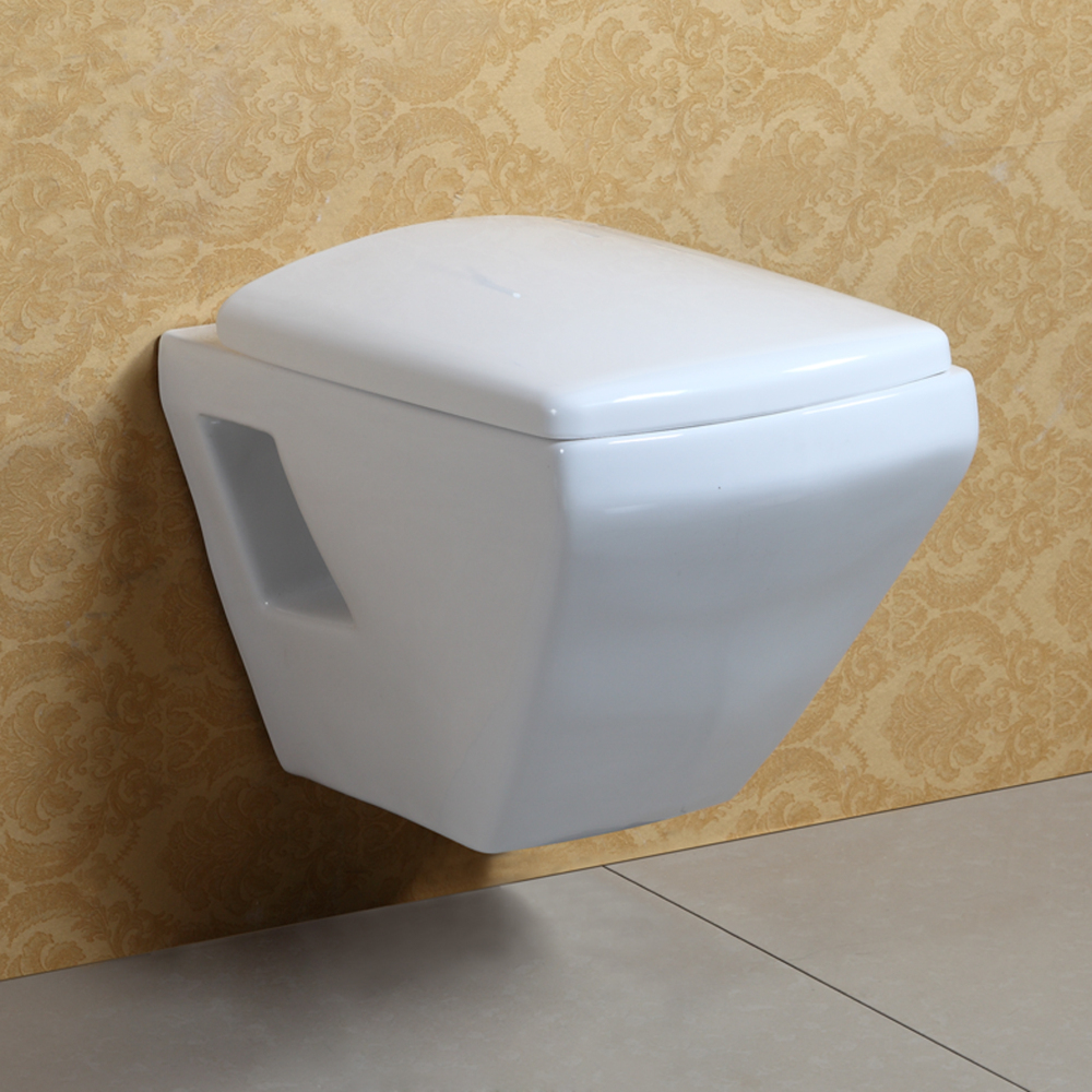 Square Design Wall Hung Ceramic Toilet