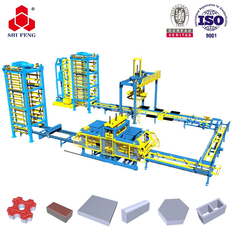 Price List Of Auto Widely Used Concrete Paver Brick Block Force Making Machine For Sale