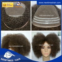 Integration base afro toupee, afro curl hair toupee for black men, hairpiece for black men