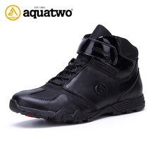 2017 New Style Aquatwo Brand Genuine Leather Mens Safety Work Boots