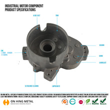 high quality OEM machining gravity casting auto motor accessories parts