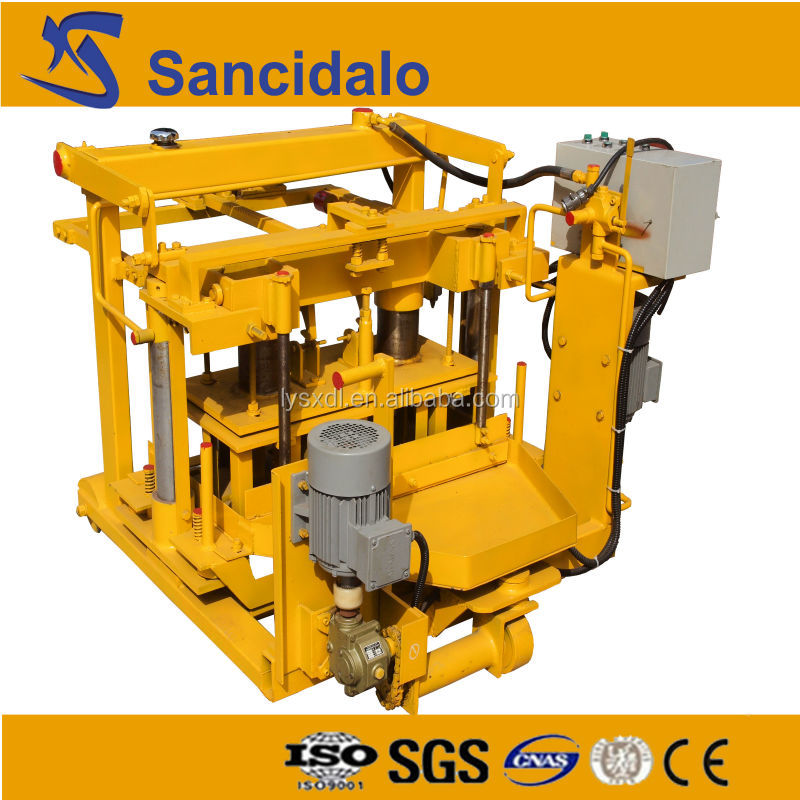competitive price QT40-3A movable sandstone hollow block machine