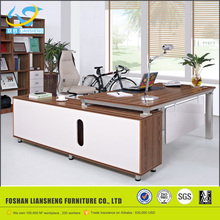 Luxury double sided computer desks, expensive office furniture wooden office table