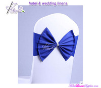 royal blue wedding decorative bow for chair covers , already tied bow for wedding chair covers