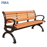 outdoor cast iron leg back bench garden chairs