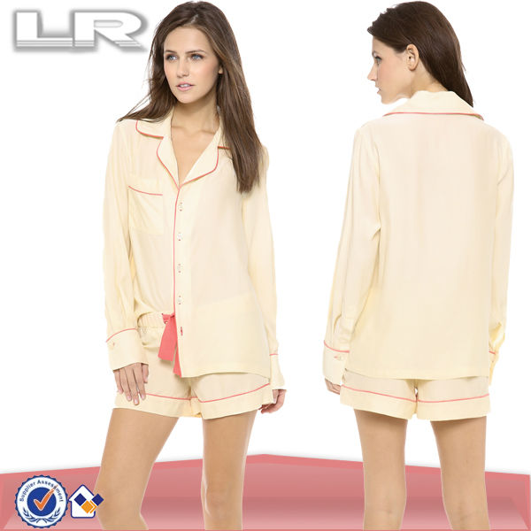 Washable Girls Silk Pajamas