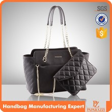 M5108 Designer fashion lady guangzhou pu quilted black purses and handbags tote bag factory