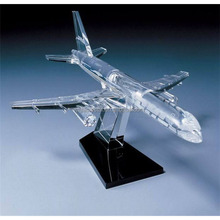 crystal glass award made in China crystal aircraft plane trophy