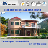 Hot Sale Elegant Appearance Two Layer Prefabricated Foam Cement Villa House