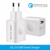 VOXLINK EU 18W Qualcomm Ceterficated Quick Charge 3.0 USB Travel Wall Charger 9V 2A Travel Adapter 1 Port Quick Charger